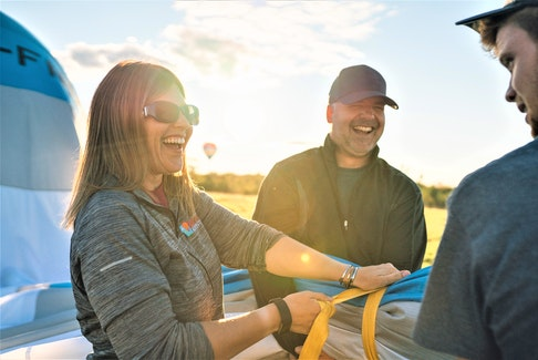 Business has been up at East Coast Balloon Adventures in Wolfville, run by Seth and Katherine Bailey.