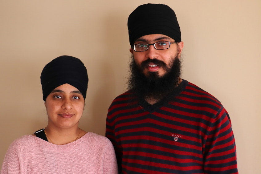 Jaspreet Kaur, left, and Daraspreet Singh are Sikhs who moved to P.E.I. shortly before the pandemic began. - Logan MacLean • The Guardian