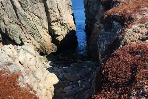 Marjorie Fergusson was hiking from Gooseberry Cove near Little Lorraine, N.S. on the weekend when she took this photo of a small gorge leading into the water. It looks like you had a beautiful day, Marjorie; thank you for sharing.