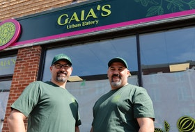 Charbel Jreij, left, and chef Pierre El Hajjar, are the owners of Gaia's Urban Eatery on Queen Street in Charlottetown. Charble's wife, Rita, is also an owner.