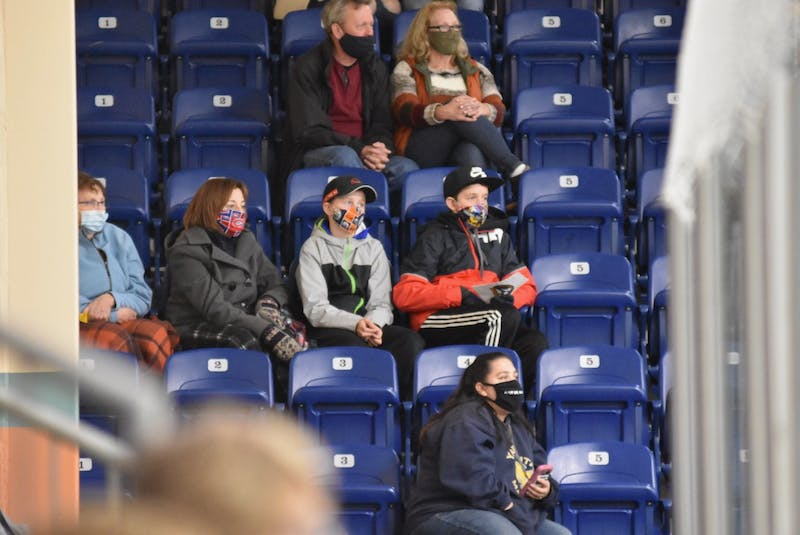The MHL season has seen restrictions on spectator numbers in the Mariners Centre throughout the 2020-2021 season. TINA COMEAU PHOTO