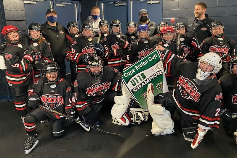 The Glace Bay Miners wrapped up their 2020-21 season with a championship victory recently. The Miners defeated the Cape Breton West Islanders 2-1 in the best-of-three Cape Breton Cup championship series. The Islanders took Game 1 2-1 in overtime, while the Miners answered with a 4-2 win in Game 2. Glace Bay won the series with a 5-2 victory on March 21 in Glace Bay. Members of the team, in no particular order, Matt MacKinnon, Jacob Ellsworth, Jesse Walsh, Mason Reid, Molly O'Keefe, Brooklyn Sehl, Owen O'Brien, Drew McPhee, Mitchell Aucoin, Maya Munro-Oliver, Bronson McLean-Browner, Dawson Scott, Josh Demeyere, Mike Smeltzer, Max Small and Cameron Ferguson. Coaches include Jim Ellsworth, Geoff Oliver, JR Reid and Matt O'Keefe. CONTRIBUTED • MATT O'KEEFE - Contributed