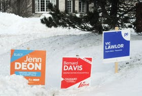 Election signs in the district of Virginia Waters-Pleasantville in St. John's, Feb. 13, 2021. — Joe Gibbons/The Telegram