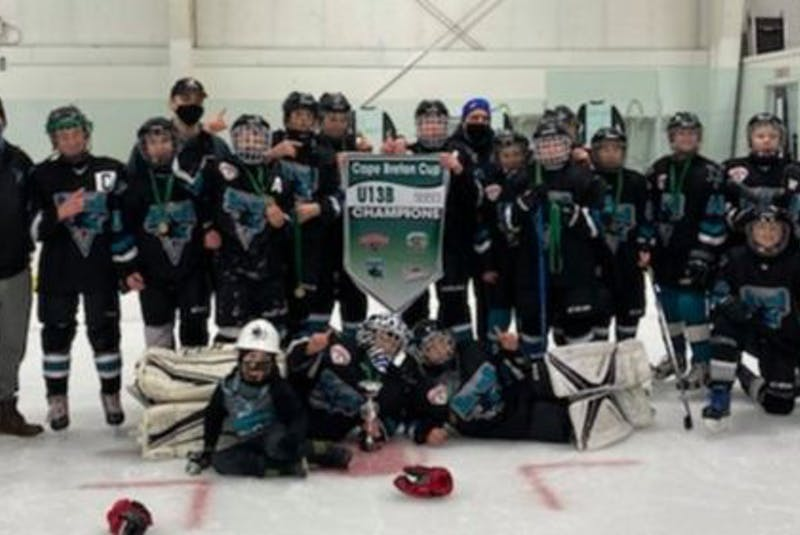 The New Waterford Sharks captured the Under-13 'B' Cape Breton Cup championship after posting an undefeated 24-0-0 record during the 2020-21 season. The team finished the season with 191 goals while allowing only 33 goals against. Members of the team, in no particular order, Joe MacNeil, Matt MacNeil, Cohen MacDonald, Aiden Webber, Ryan McLaughlin, Cooper Crosby, Cale Baker, Seth Jordan, Erik Hillier, Andrew Young, Karson McVarish, Jake MacKinnon, Aiden Oliver, Nolan McGillivary, Reid Mayich and Brody Baldwin. Coaches include Kyle Baldwin, Kevin Crosby, Parker Crosby, John Mayich and Scott Hillier. CONTRIBUTED • KYLE BALDWIN - Contributed