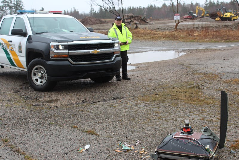 Const. Arnold McKinnon, who is in charge of illegal dumping investigations and charges, spends his days probing the CBRM for illegal dumping activity and, where necessary, charging perpretrators. IAN NATHANSON/CAPE BRETON POST