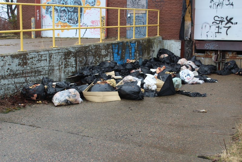Illegally dumped garbage found at an abandoned warehouse facility in Sydney Mines.. IAN NATHANSON/CAPE BRETON POST