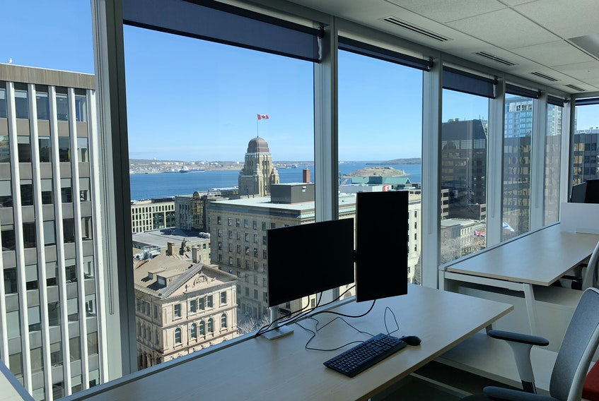 """Halifax's city size and surrounding region allows the option for people to come into the office when it makes sense and as an option when the home space is just too busy or too quiet, says Tim Richardson, the Halifax operations manager for Jonas Software. Being in-person allows for less formal scheduling of interactions even with advancement of team-chat functions. """"It's just another option that adds value,"""" he says."""