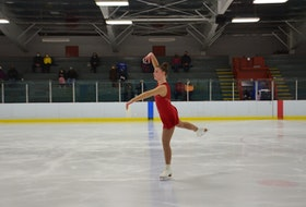 The O'Leary Skating Club's Jessica Barlow participates in the STAR 2 competition of the Prince Edward Island Amalgamated Dairies Limited (ADL) STARSkate championships in Kensington on April 3.