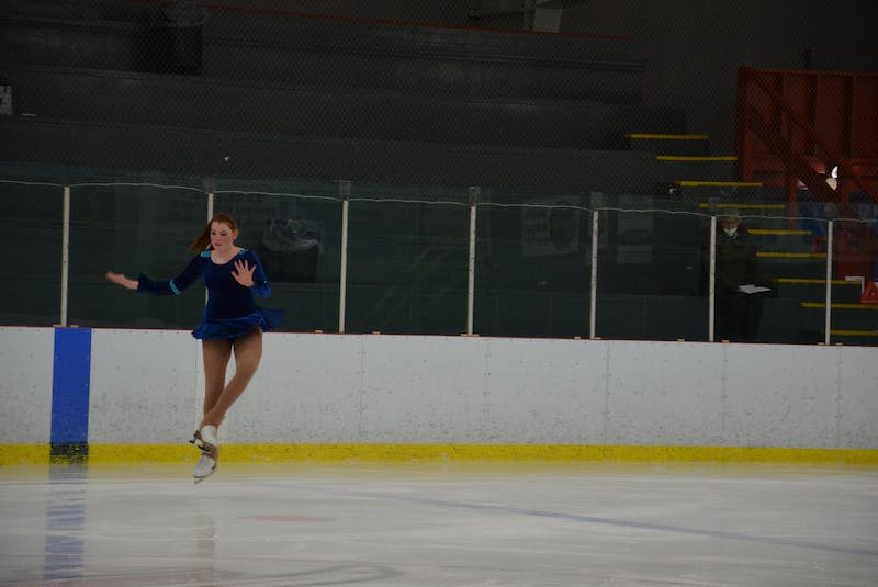 Cassandra Sampson of the host Kensington Skating Club lands a jump during the STAR 2 event of the of the Prince Edward Island Amalgamated Dairies Limited (ADL) STARSkate championships in Kensington on April 3.  - Jason Simmonds