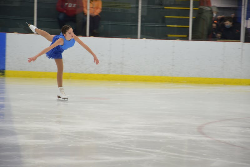 Ava Perry of the Tignish Skating Club was one of the competitors competing in the STAR 2 category at the Prince Edward Island Amalgamated Dairies Limited (ADL) STARSkate championships in Kensington on April 3. - Jason Simmonds