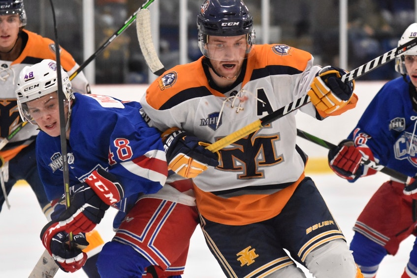Brent Broaders has once again been a leading scorer for the Yarmouth Mariners. He returned to the team for the 2020-2021 season after having been in Ontario where hockey couldn't be played due to COVID. TINA COMEAU PHOTO