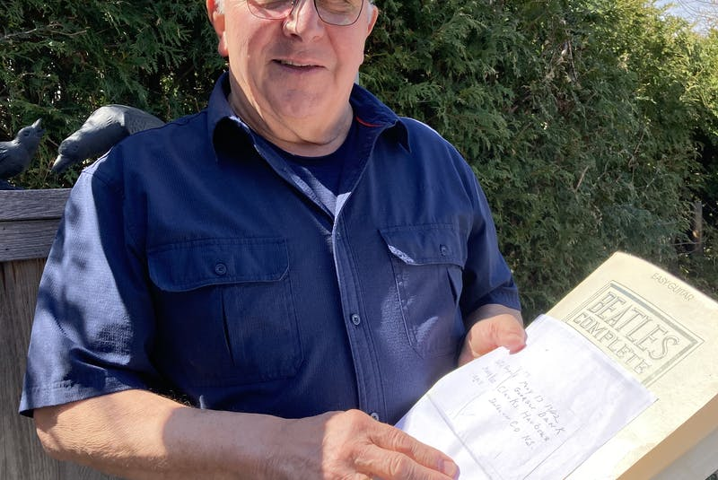 John Winship, a retiree from the Canadian Forces living in Kingston, Ontario, slipped a message found in a bottle on a Normandy beach in 1990, into a book for safekeeping. Close to four decades later he came across the note and began his search for Mindy Ross. - Saltwire network
