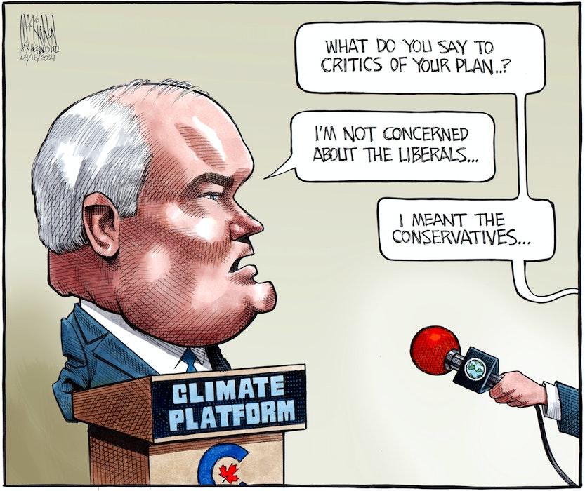Bruce MacKinnon's editorial cartoon for April 16, 2021. - Bruce MacKinnon