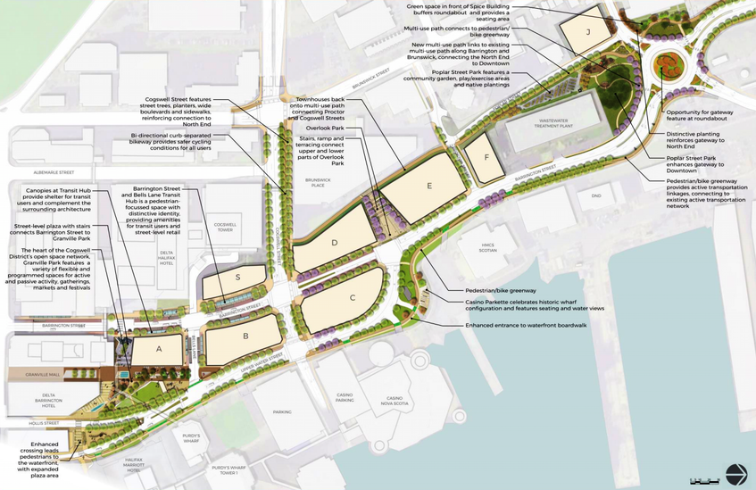 The overall master plan for the Cogswell District Redevelopment project in Halifax, N.S. - Screenshot