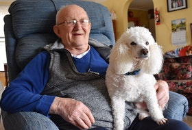 George Barker of Wilmot turned 100 in February. He's survived The Great Depression and lived to see how the Second World War would leave a lasting mark on the nearby community of Greenwood. These days, he enjoys the finer things in life and treasures time spent with his four-legged companion, Rollie. – Ashley Thompson