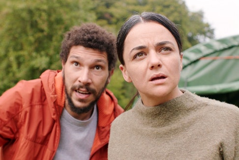 Trying to make sense of it all: Joel Fry and Hayley Squires in In the Earth.