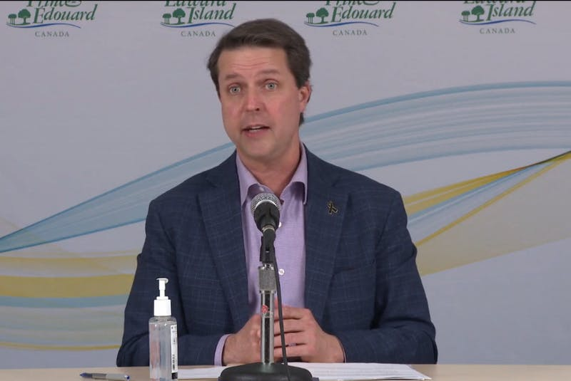 Social Development and Housing Minister Brad Trivers announced $3 million in funding for the CMHA and Habitat for Humanity for housing projects. - Screenshot