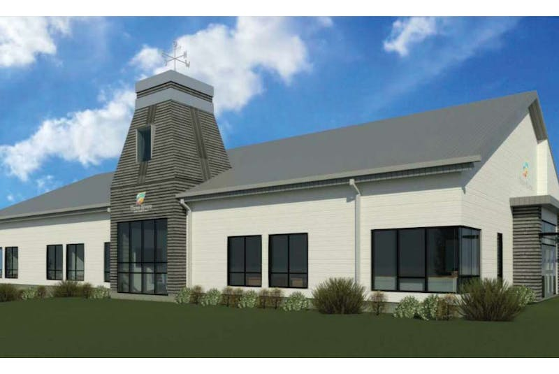 The design for Three Rivers' proposed administration building - facing south west. - Contributed