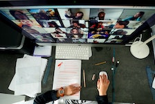 A study has found that 63 per cent of remote workers are participating in more meetings online than they would have in the office, with 30 per cent spending two to three hours daily meeting on camera.