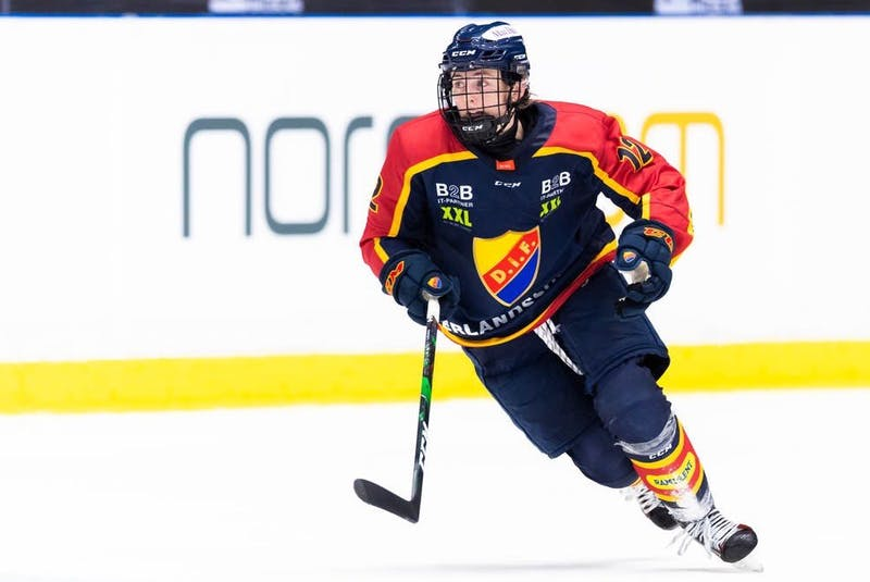 Allie Munroe has been playing pro hockey overseas in Sweden with Djurgårdens IF. CONTRIBUTED - Contribued