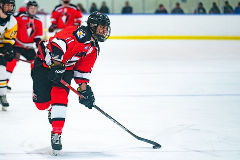 East Hants Penguins captain Adam Perruzza leads the team into the Nova Scotia Junior Hockey League championship series against the Kameron Jr. Miners. - Contribued