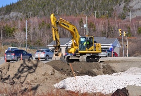 Construction of Corner Brook's first roundabout at the intersection of West Valley Road and Confederation Drive started Monday and is scheduled to take 12 weeks to complete.