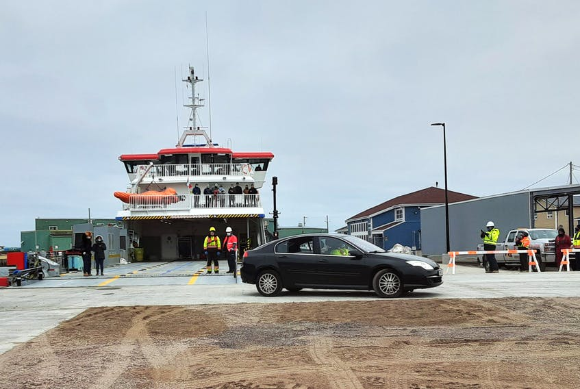 It was a historic day in Fortune Friday morning as a car loaded on the Nordet in St-Pierre disembarked from the ferry onto Newfoundland.