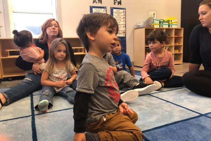 Children at Lennox Island Daycare learn about the seven sacred teachings. - Contributed
