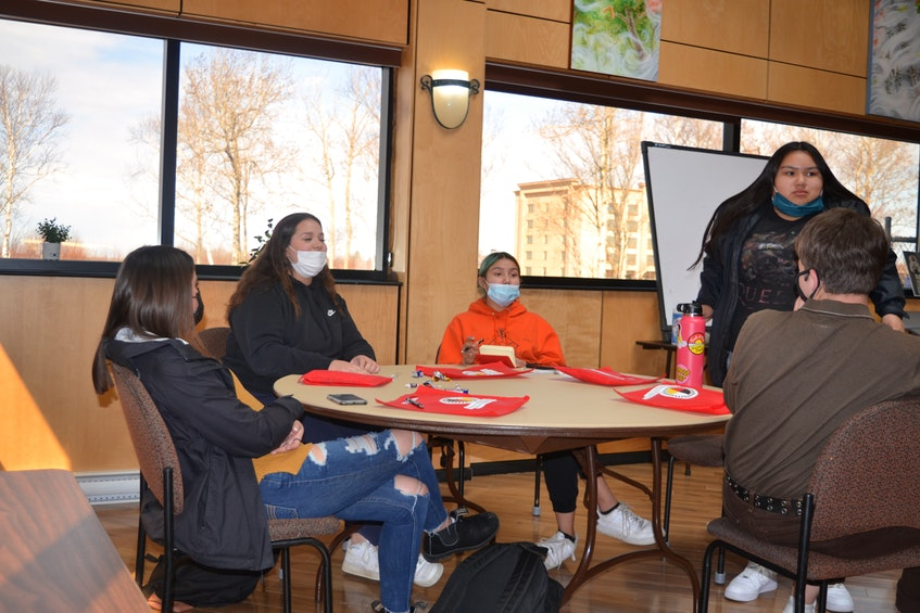 Youth council meets once a week at the Membertou Heritage Park to discuss issues and plan events. The group is currently organizing a community clean-up. ARDELLE REYNOLDS/CAPE BRETON POST