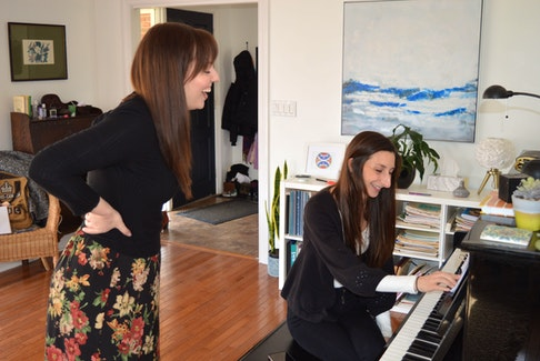 Melissa MacKenzie, left, brings her Good Girl cabaret show to Trailside Music Hall in Charlottetown, April 20-21. She will be accompanied by pianist Morgan Saulnier, right.