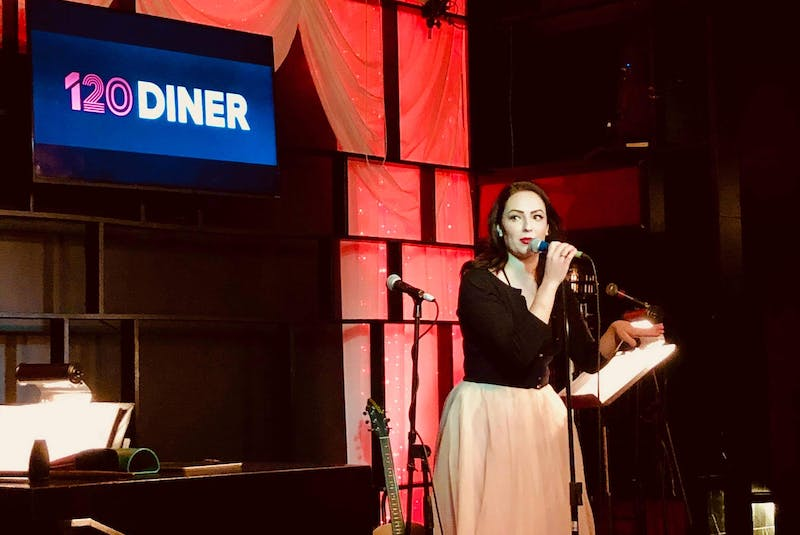 Melissa MacKenzie is seen performing Good Girl at 120 Diner in Toronto last year before the pandemic began. - Contributed
