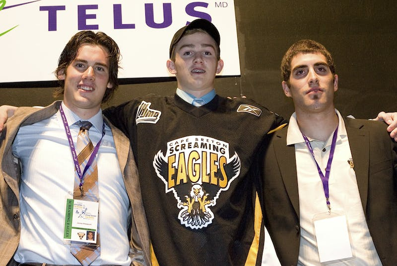 The Quebec Major Junior Hockey League says no date has been confirmed for the 2021 league entry draft. Logan Shaw of Glace Bay, middle, is shown when he was drafted in the first-round by the Cape Breton Screaming Eagles in 2008 in Sydney. CAPE BRETON POST - SaltWire Network File Photo