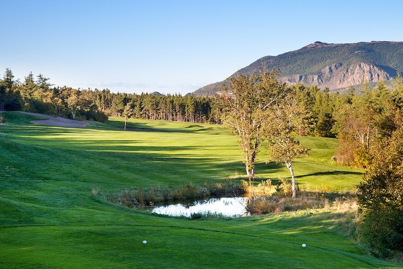 Michael Bourgeois, superintendent of Le Portage Golf Club in Cheticamp, was recently awarded the Jack Fairhurst Superintendent of the Year award by the Atlantic Golf Course Superintendent Association. Shown is Le Portage Golf Club. CONTRIBUTED • LE PORTAGE GOLF CLUB - Contributed