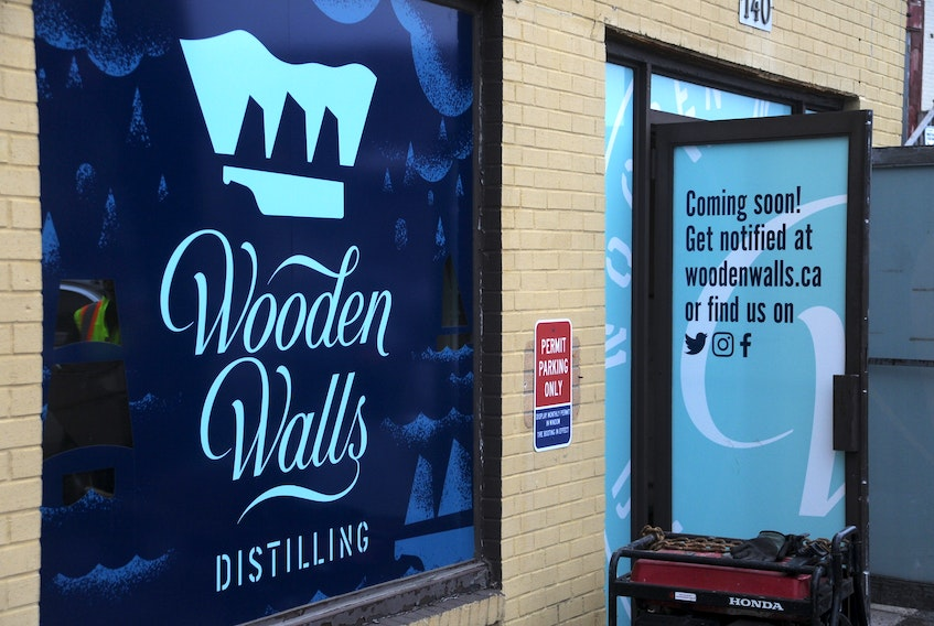 Wooden Walls Distilling is located in the former Templeton's building.