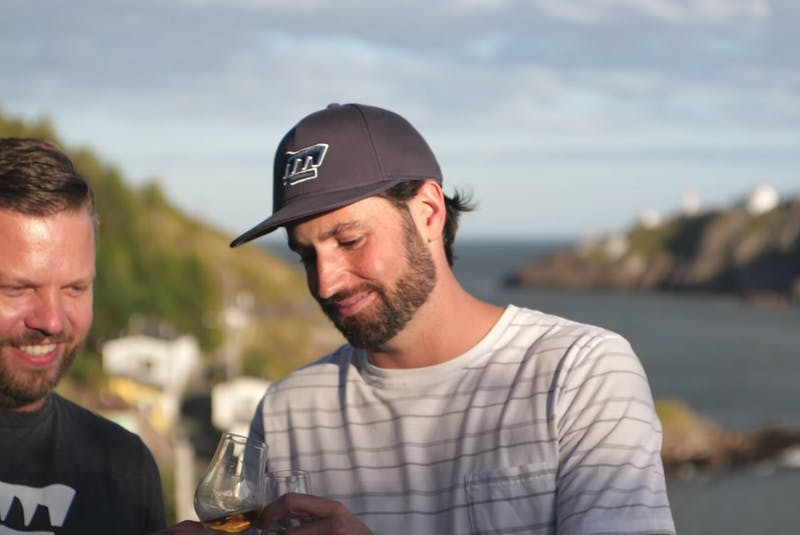 Chris Dowden (left) is a co-owner of Wooden Walls Distilling, and James Walsh is its distiller. — Contributed