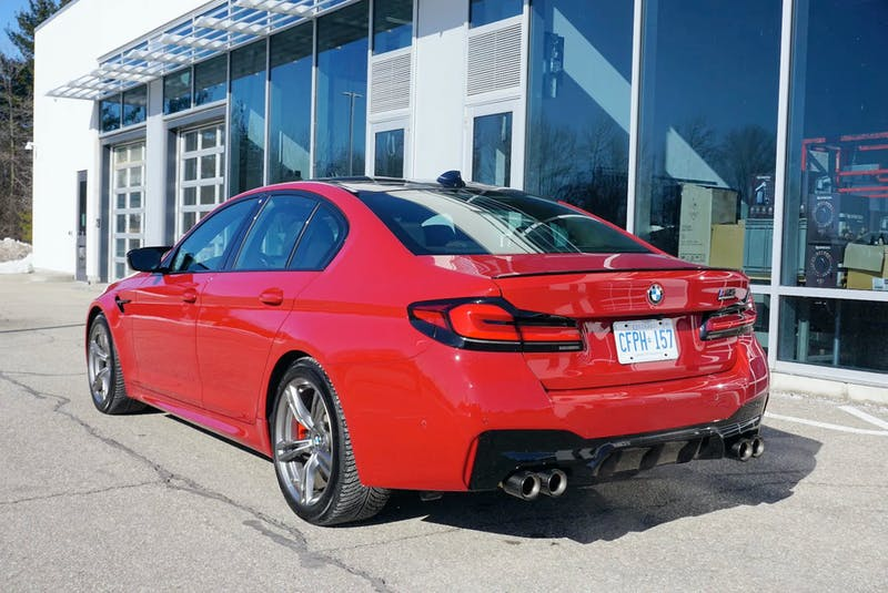 The fact the 2021 BMW M5 Competition appears as a mid-sized four-door sedan serves as a clever smokescreen to legitimize its practicality. Brian Harper/Postmedia News - POSTMEDIA