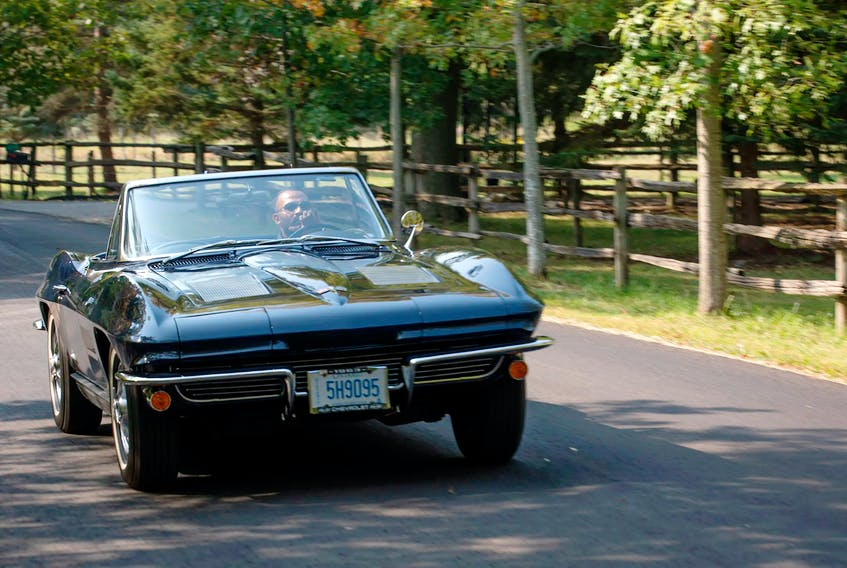 Rick Patel driving his 1963 Chevrolet Corvette. Clayton Seams/Postmedia News