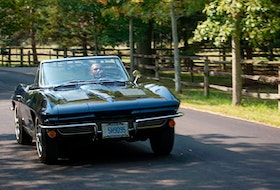 Rick Patel driving his 1963 Chevrolet Corvette. Clayton Seams/Postmedia News