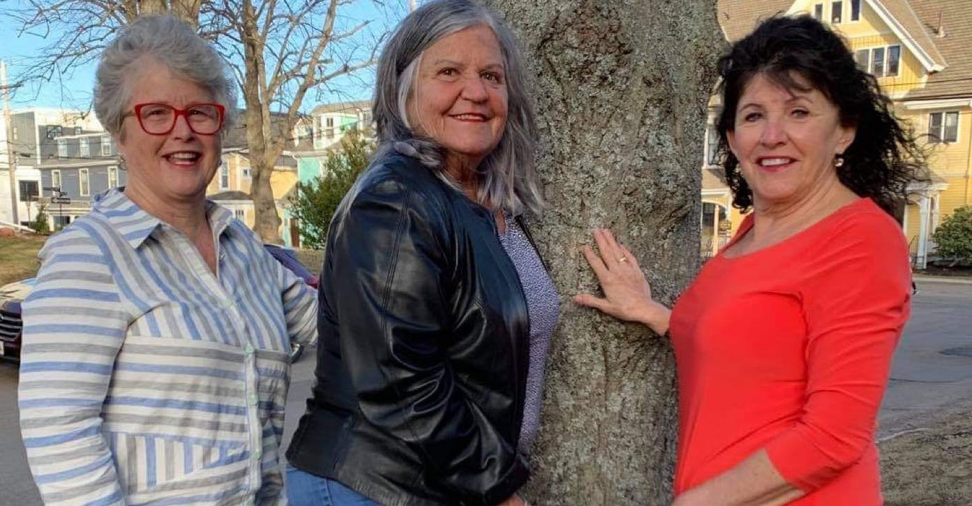 Friends (Anne Morais, left, Mary Hughes Power and Anne MacDougall) will be joined by Alf Morais, Elizabeth MacKenzie and Angela MacDonald on Monday, April 19, for a ceilidh at the Winsloe Lions Hall.