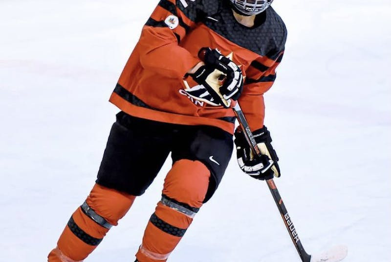 Allie Munroe of Yarmouth says on the ice her strengths are her defensive game. CONTRIBUTED