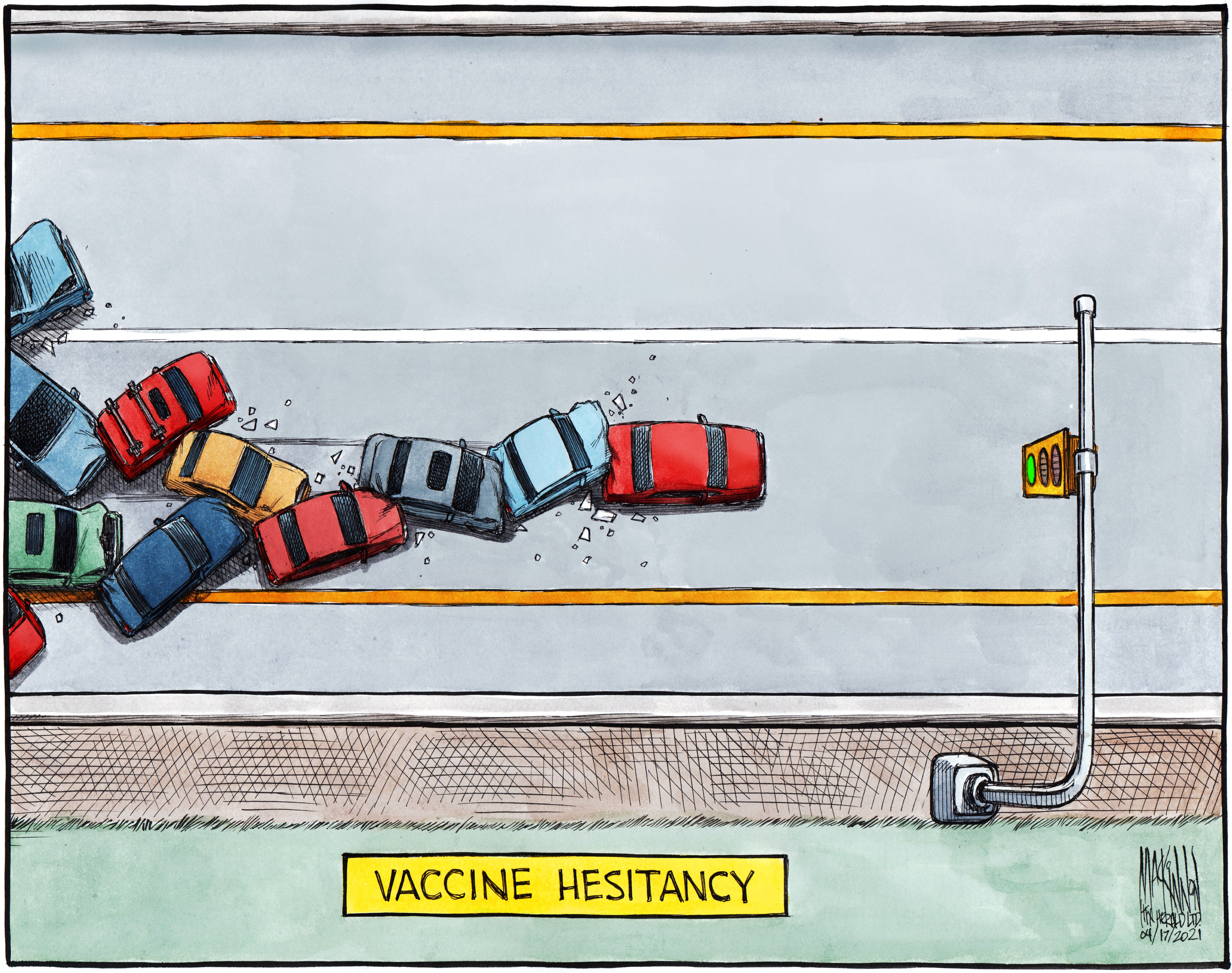 Bruce MacKinnon's cartoon April 17, 2021.