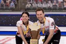 Kerri Einarson of Gimli Man., and Brad Gushue, of St.John's Nfld., defeat Kadriana Sahaidak and Colton Lott to capture the Home Hardware Canadian Mixed Doubles Curling Championship.