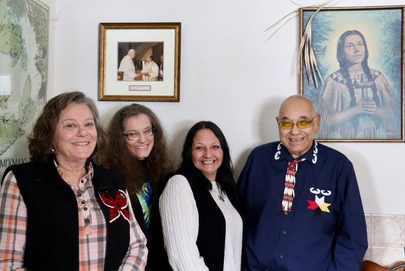 From left are Kathy Ehman, Dr. Jane Preston, Julie Pellisier-Lush and Keptin John Joe Sark. - Logan MacLean