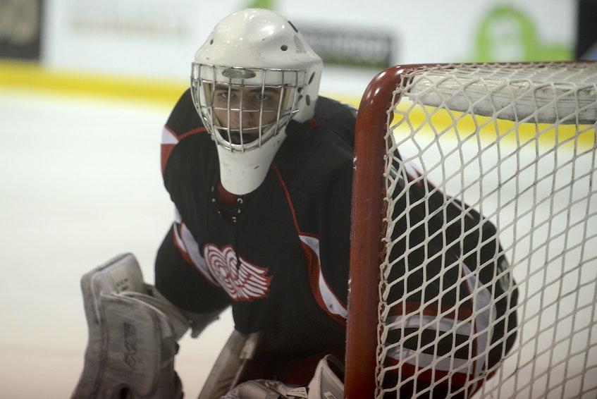 Arsenault's Fish Mart Western Red Wings goalie Stephan Giansante has been a key cog in Western's 24-game win streak. - Jason Malloy