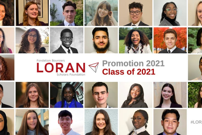 Malorie Osmond (bottom row, second from the left) is shown along with the other young students from across Canada who have been named Loran Scholars for 2021. — Contributed