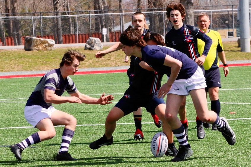 Avon View and King's-Edgehill boys' teams took part in several games and training sessions April 9. - Carole Morris-Underhill