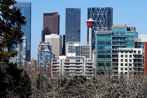 The Calgary downtown skyline. Thursday, April 15, 2021.