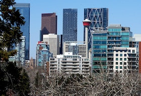 The Calgary downtown skyline. Thursday, April 15, 2021.