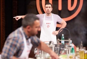 Dartmouth's Andy Hay calling directions to Halifax's Andrew Al-Khouri in a recent episode of Masterchef Canada: Season 7 Back to Win