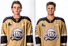 Defenceman Lukas Cormier, left, and Noah Laaouan form the Charlottetown Islanders No. 1 pair.